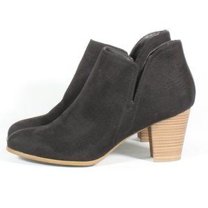 Fergalicious Charley Ankle Black Suede Heel Boots